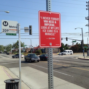 """New """"RAP QUOTES"""" – Signs on Original Locations in Los Angeles by ..."""