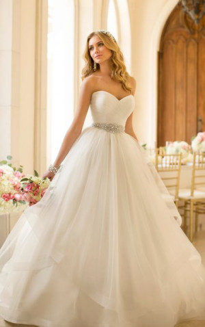 Stella York Style 5859. This Tulle wedding dress ballgown features a ...
