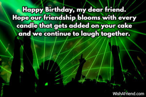 Happy Birthday, my dear friend. Hope our friendship blooms with every ...