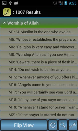 islamic hadith quotes sayings app provides a collection of over 1000 ...