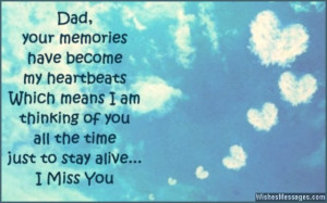 Missing my dad quote died
