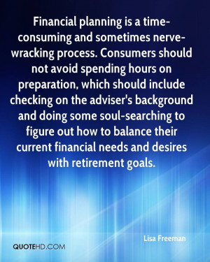 Financial planning is a time-consuming and sometimes nerve-wracking ...