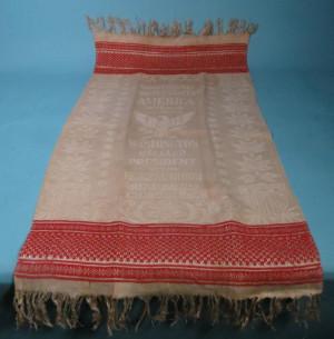 George Washington commemorative woven textile