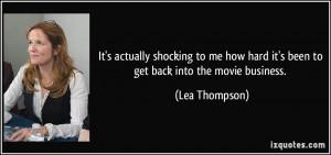 More Lea Thompson Quotes