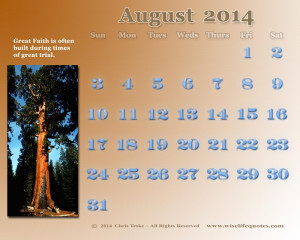 This Months' WiseLifeQuotes.com Free GiftCalendar