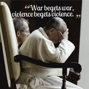 Eight recent quotes and tweets from Pope Francis emphasizing peace