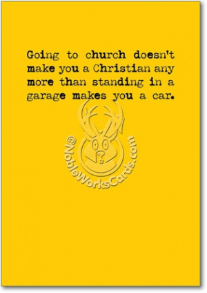 Going To Church Unique Adult Humorous Birthday Greeting Card