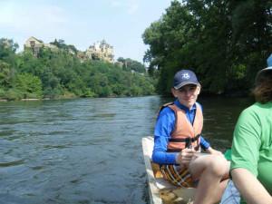 Canoeing down the Dorgonne Image