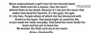... girl's love for her favourite band!! EVER!! in Inspirational Quotes