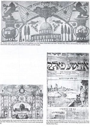 Zionists marketing material showing the plans to usurp the TempleMount ...