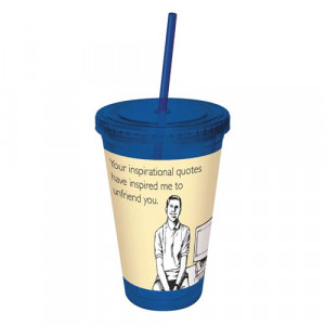 ... someecards barware someecards inspirational quotes blue travel cup