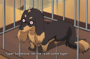 getting sucked into this anime, DOG & SCISSORS.
