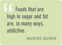 ... fast food is high in sugar and fat these types of foods stimulate the