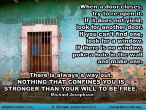 Post image for QUOTE & POSTER: When a door closes, try to re-open it ...