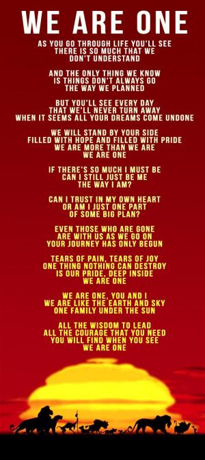 ... simba pride disney songs lyrics lion king simbas pride disney lyrics
