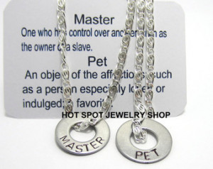 Master Pet Necklaces, BDSM, His and Her Jewelry, Fetish Wear, Dominant ...