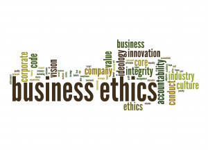 Good Business Ethics Business Ethics Word Cloud