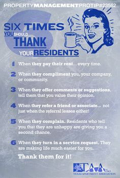 Six Times You Should Thank Your Residents! More