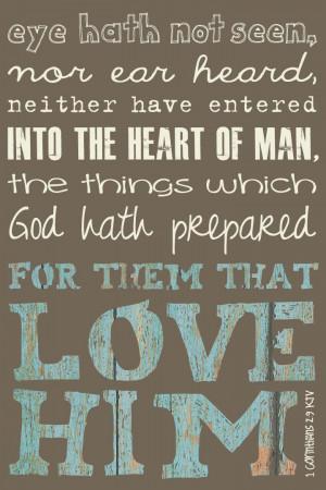 Corinthians 2:9 KJV, 10x15 art print on wood. $39.00, via Etsy.HOW ...