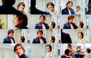 ... Leia: I don't know where you get you delusions, laser brain.Han Solo