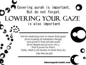 Lowering your gaze
