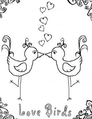 love bird coloring pages - coloring pages of quotes love quotesgram