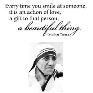 Mother Teresa Quotes Smile Smile mother teresa quotes