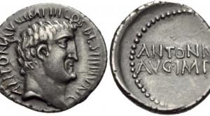 Mark Antony. Summer 32 BC. AR Denarius (20mm, 3.69 g, 3h).