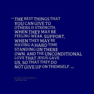 Quotes Picture: the best things that you can give to others is ...
