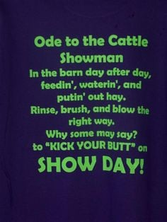 Show Cattle Shirts | CATTLEJUNKY T'S More