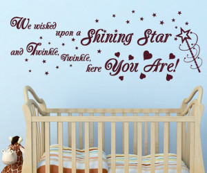 SHINING STAR quote TWINKLE TWINKLE wall sticker decal