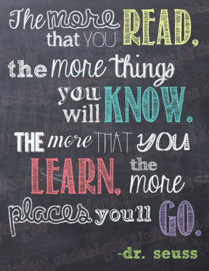 Seuss Chalkboards, Quotes Chalkboards, Dr. Seuss Book Quotes, Reading ...