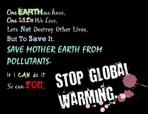 Stop Global Warming Picture