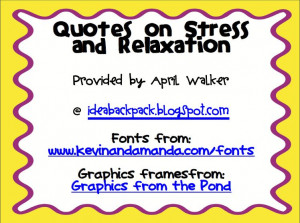 Weekly Inspiration: Stress and Relaxation