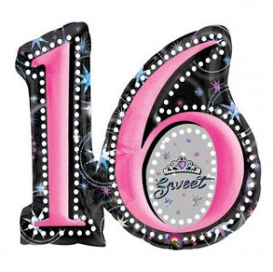 for Sweet Sixteen birthday parties. This Sweet 16 Mylar birthday ...
