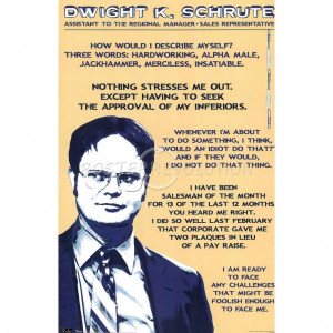 Dwight K. Schrute quotes. I love the Office!: Corporate Ladders ...