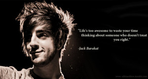all time low, black and white, boy, jack barakat, quote