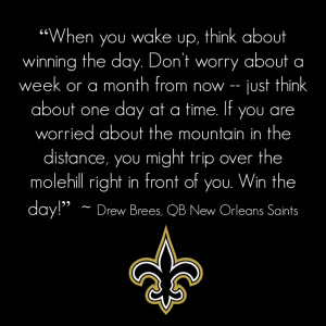 drew brees new orleans saints quarterback motivation monday ailis ...