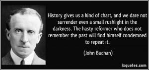 ... remember the past will find himself condemned to repeat it. - John