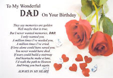 Deceased Dad Birthday Quotes A5 birthday bereavement