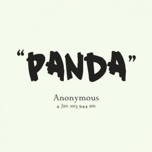 panda quotes sayings