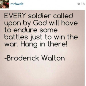 REPOST from @mrbwalt: Every soldier called upon by God will have to ...