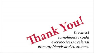 Thank you for your Referrals ♥