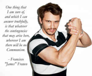 ... James Franco spent about half a century as the dictator of Spain, so I