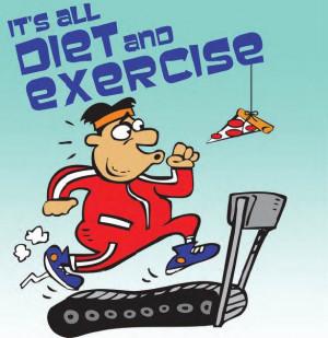 Diet, Exercise, Humor