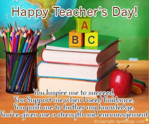 Here Our Team Has Selected Some Happy Teacher's Day Messages, Quotes ...