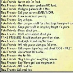Real VS. Fake friends