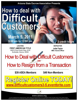 406285 Dealing With Difficult Customers