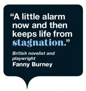 fanny burney quote bubble image