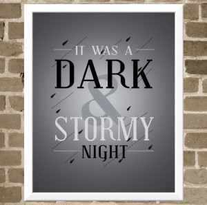 ... Stormy Night Quote - Book Lover Art for Library Decor. $35.00, via